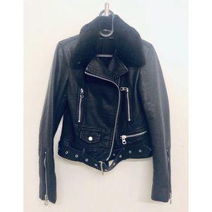 Zara Cropped Biker Jacket